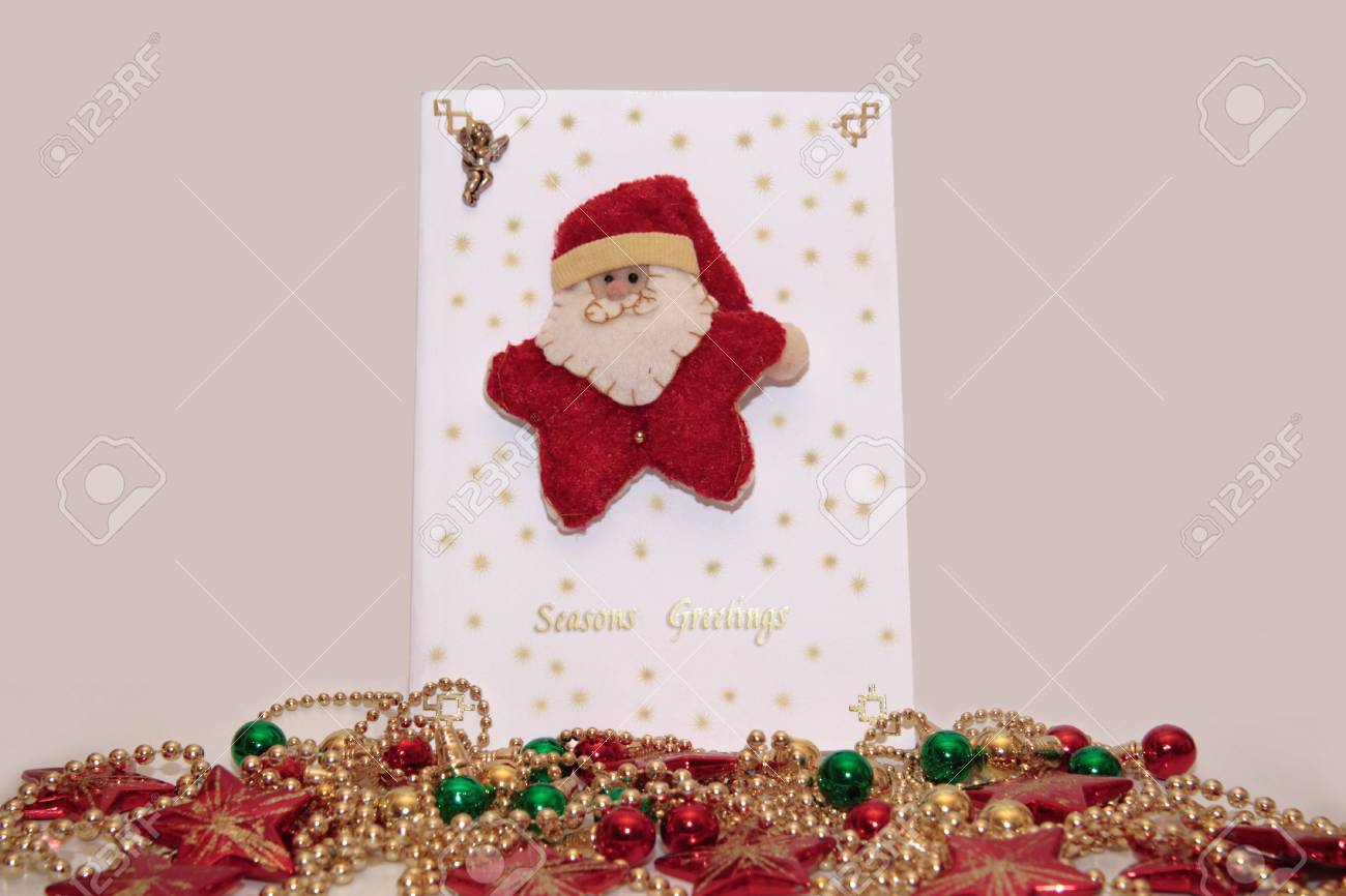 xmas card with a decorated background Stock Photo - 2235811