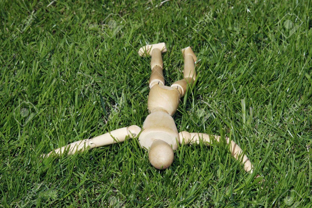 art model man lying in the grass Stock Photo - 2275745