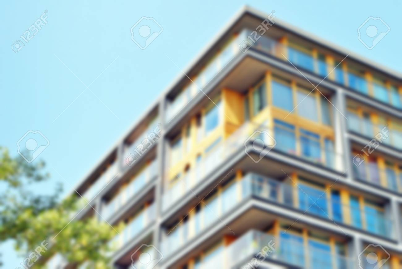 Abstract blur of modern apartment building banque dimages 88906699