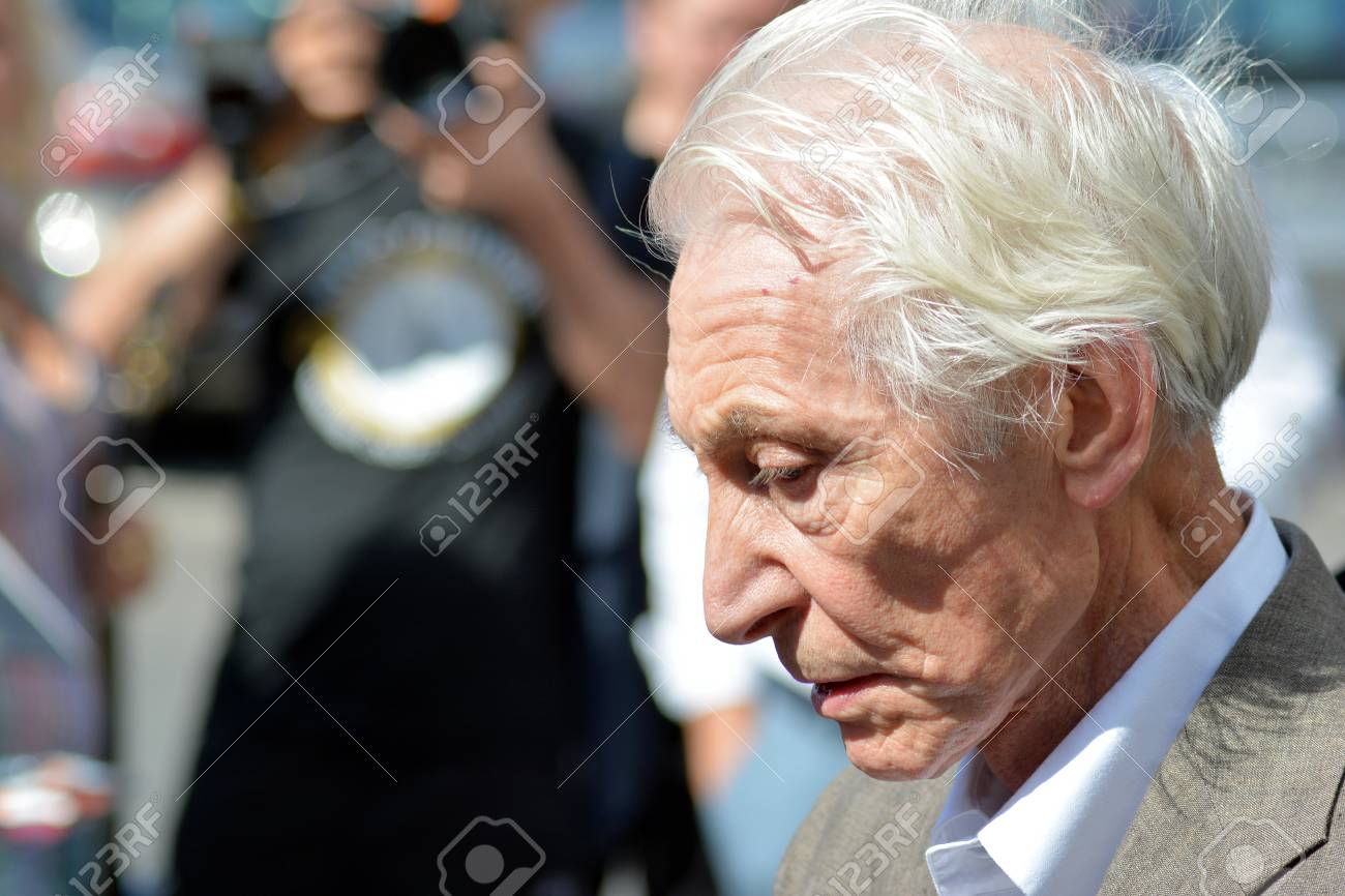 Warsaw, Poland  9 July 2018  Charlie Watts, musician of the legendary