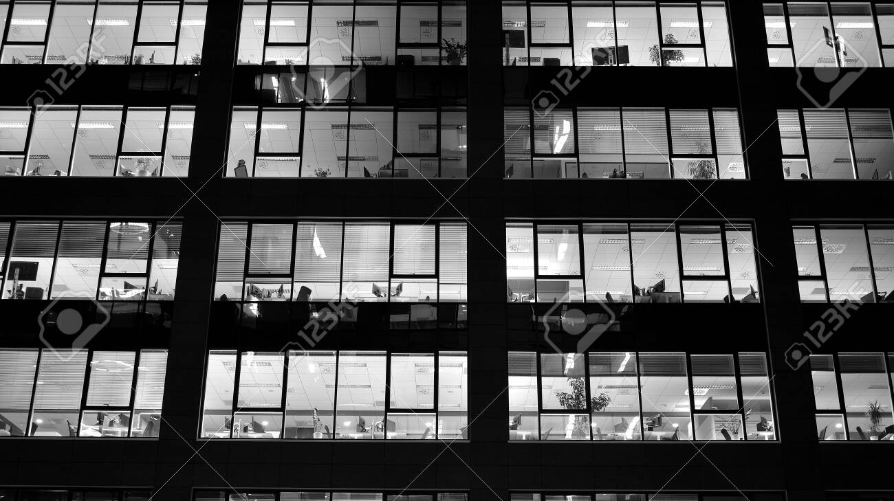Pattern Of Office Buildings Windows Illuminated At Night Lighting Stock Photo Picture And Royalty Free Image Image 133901325
