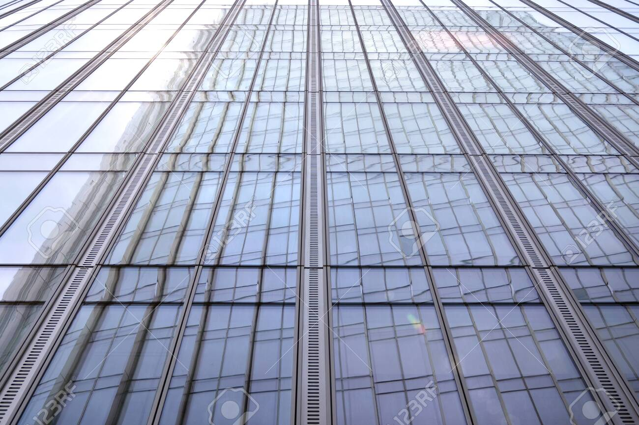 Abstract view of a skyscraper with sunlight - 133901457