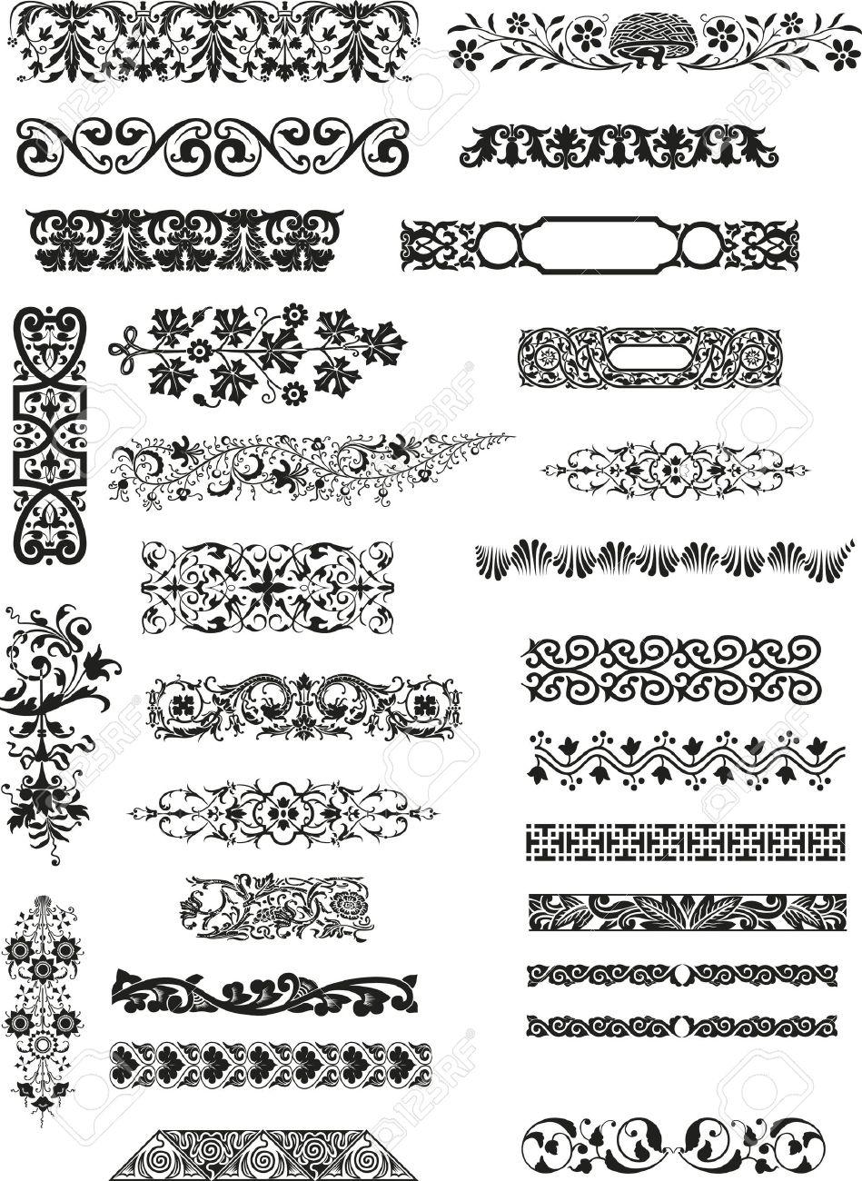 horizontal ornaments Stock Vector - 5750832