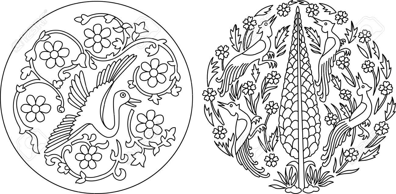 Round Indian style motifs Stock Vector - 15215308