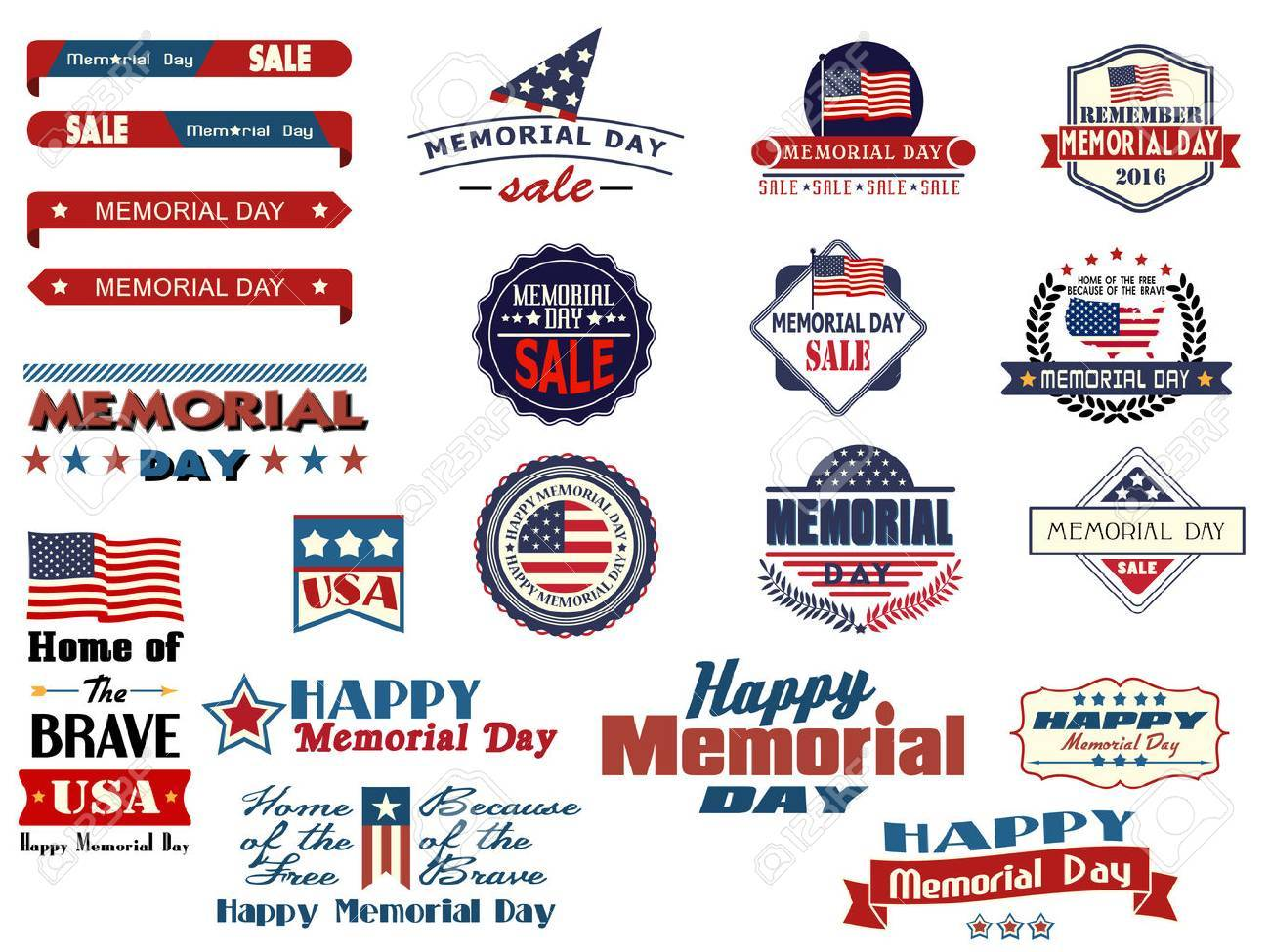 Various Memorial Day sale badges and sticke - 53163123