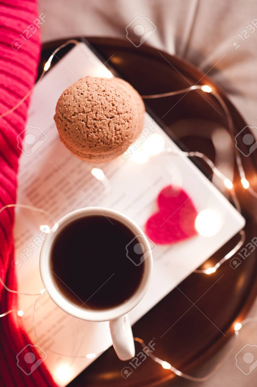 Cup Of Black Tea With Stack Of Cookies Top View Good Morning Stock Photo Picture And Royalty Free Image Image 84770147