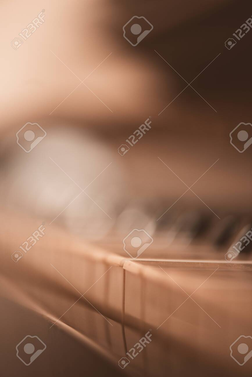 Old vintage piano closeup with focus on keys. - 150958085