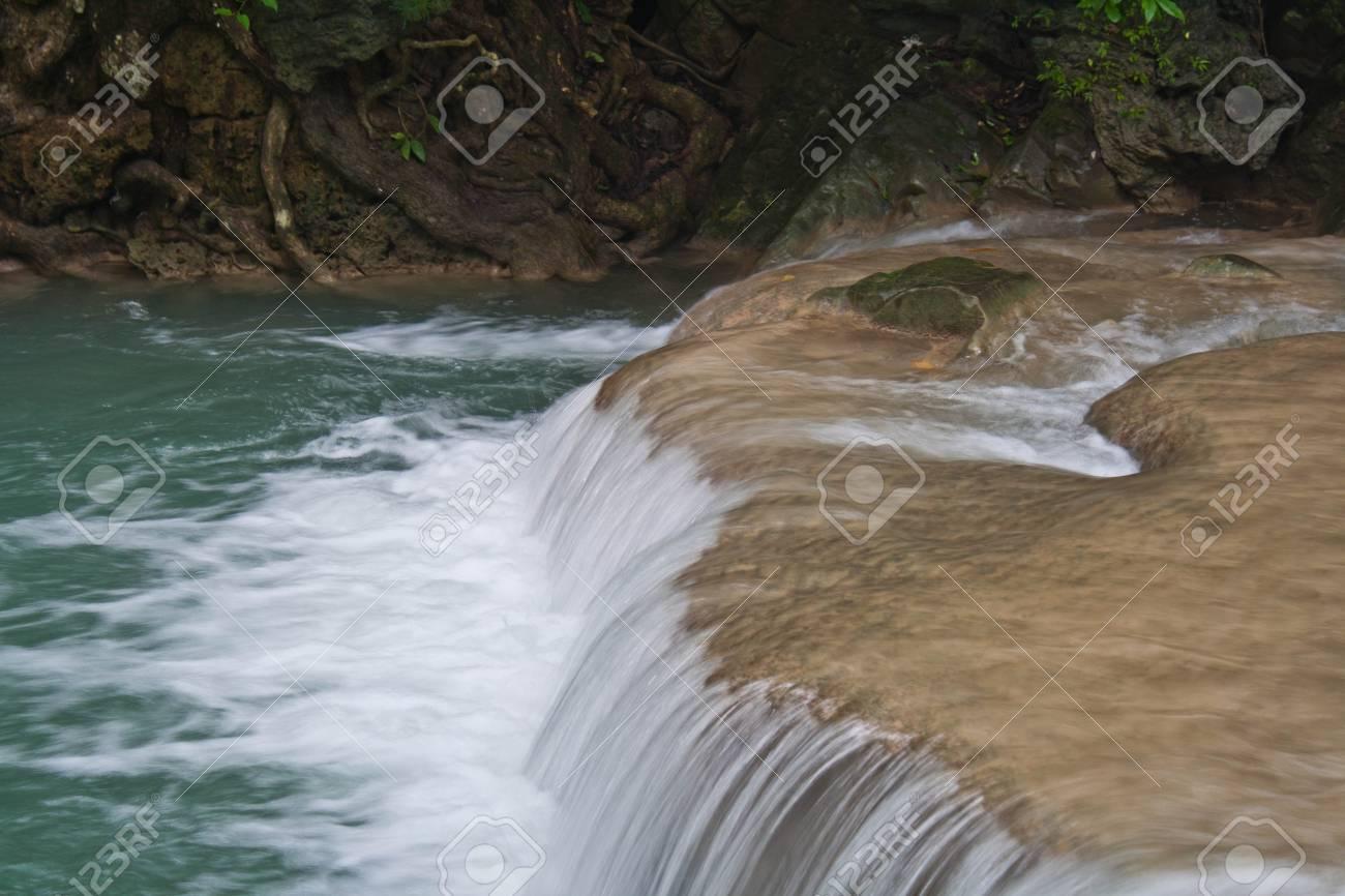 Erawan waterfall in Kanchanaburi, Thailand Stock Photo - 8317289