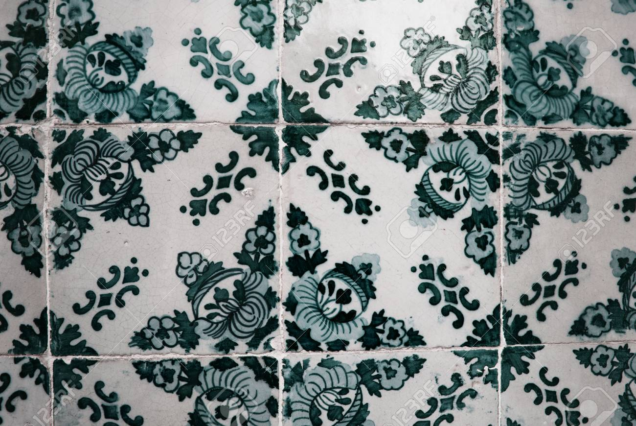 Vintage azulejos le piastrelle portoghese tradizionale