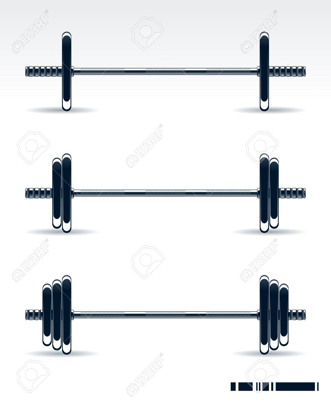 Bodybuilding equipment on white background Stock Vector - 6189062