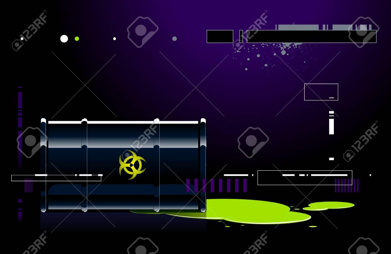 Black barrel on modern background Stock Vector - 6302080