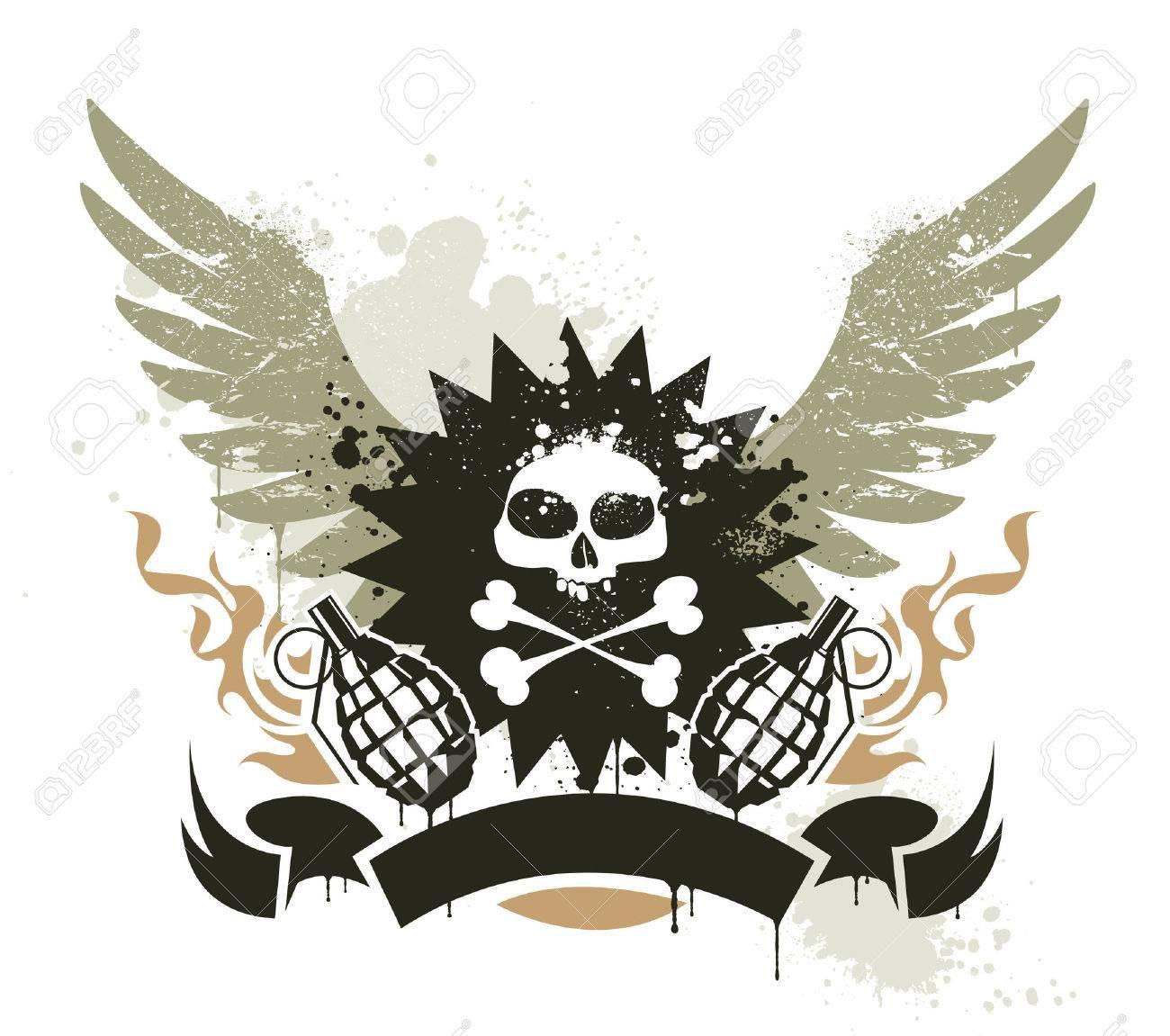 Grunge gang design. Stock Vector - 8258248