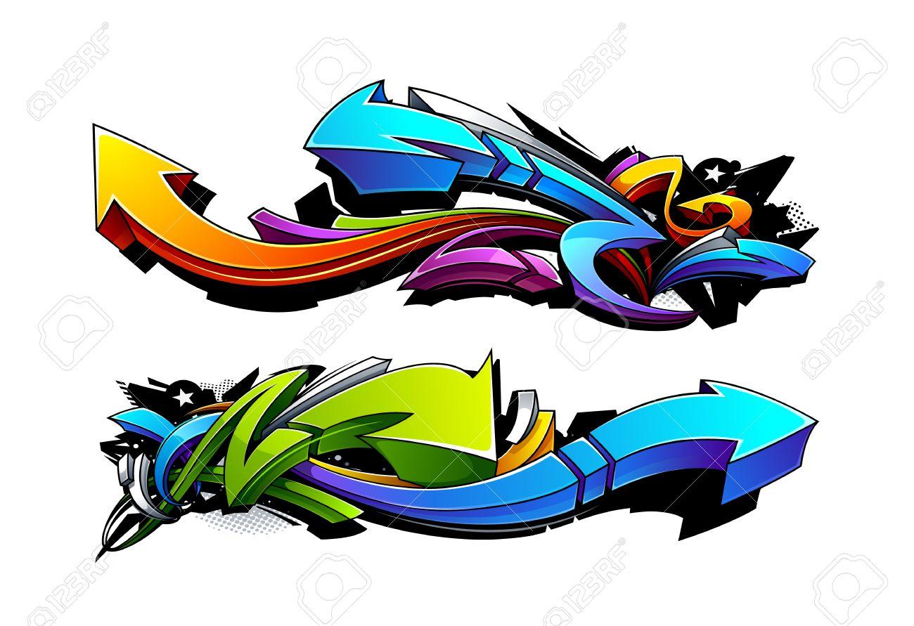 Graffiti arrows designs vector illustration stock vector 23867515