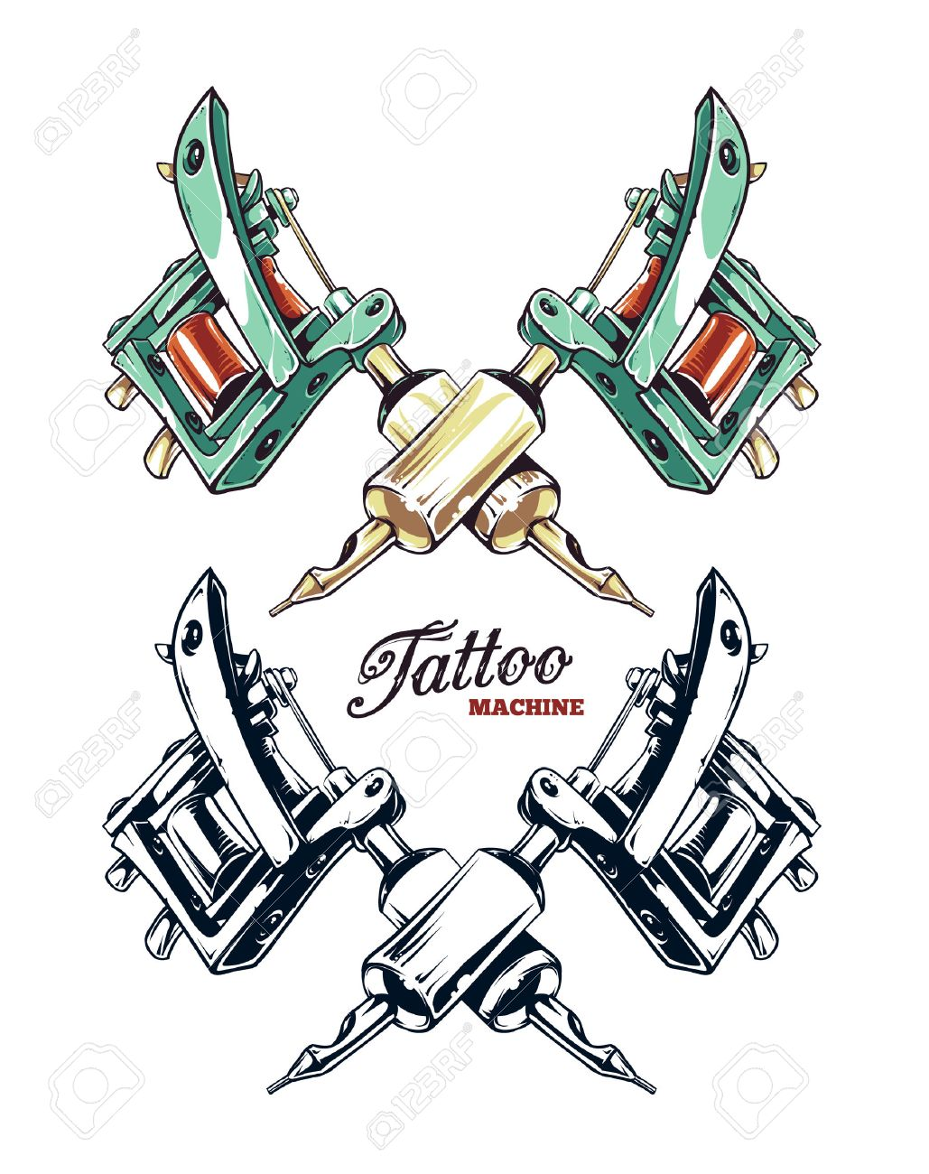 1 576 tattoo machine stock vector illustration and royalty free rh 123rf com  tattoo machine clipart