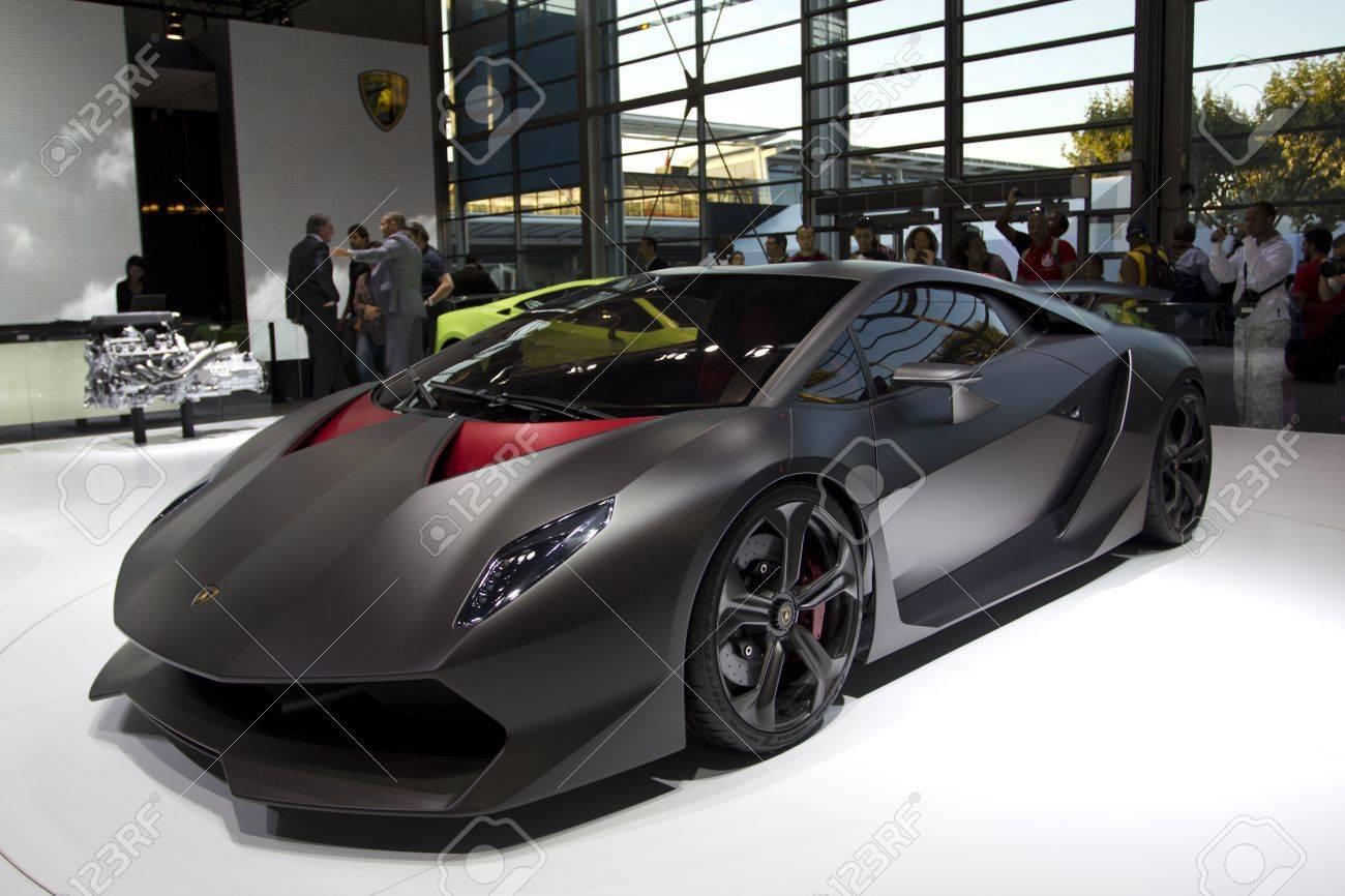 Paris Motor Show 2010 In Paris Showing Lamborghini Sesto Elemento