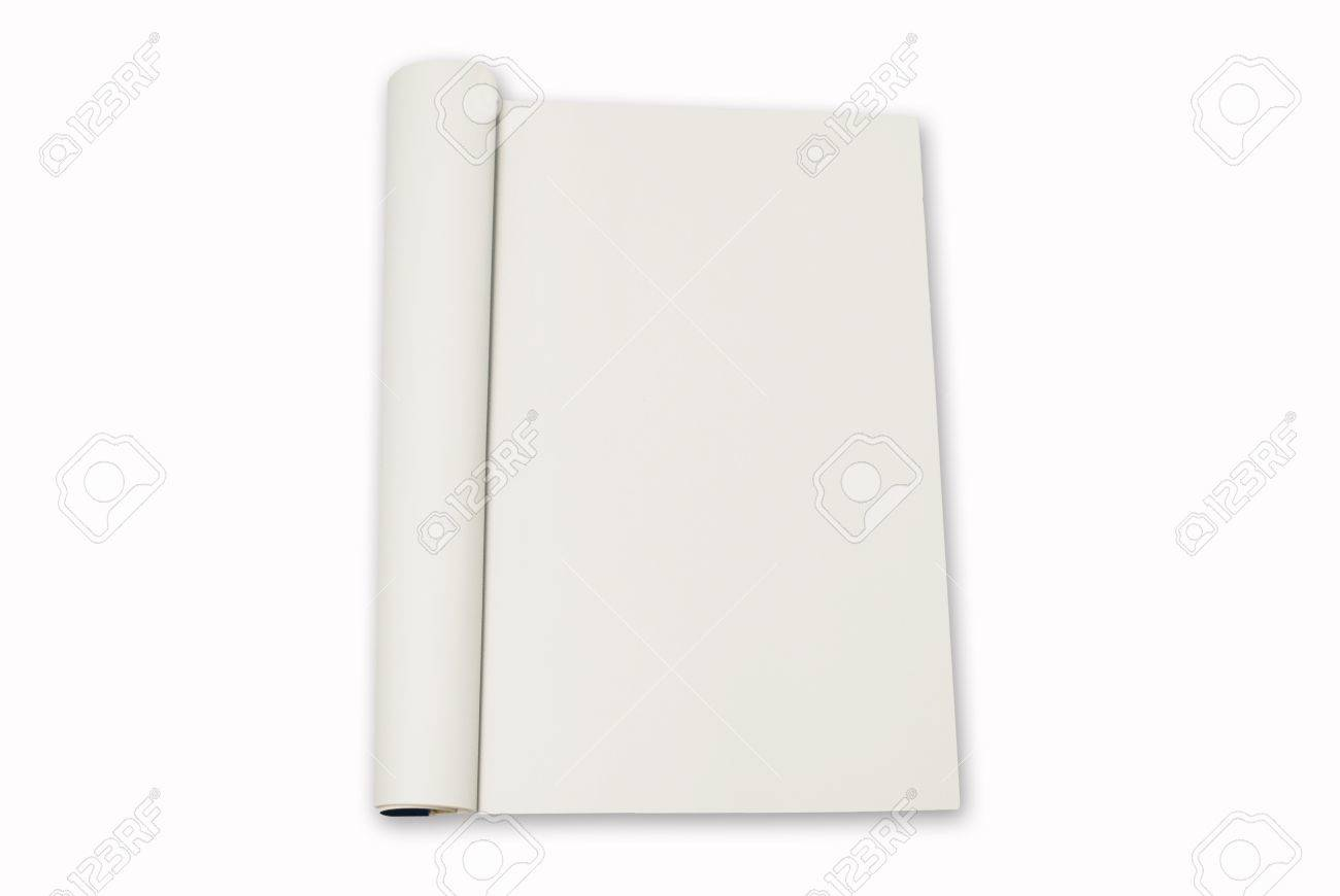 blank paper from notebook on white background blank for type