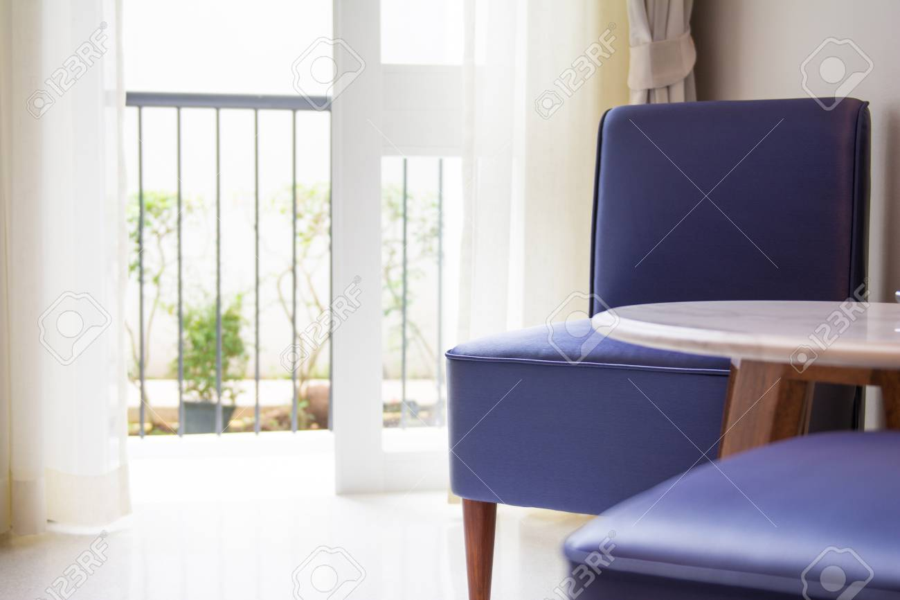 Purple Chair In The Living Room, Decoration Stock Photo, Picture And ...