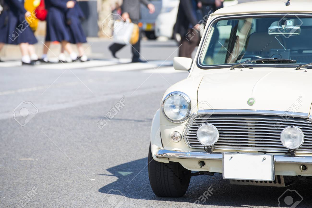 Tokyo Japan February 18 2016 Classic Austin Mini Motor Stock