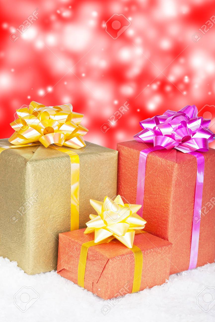 Christmas and New Year. Gift box Stock Photo - 11271393