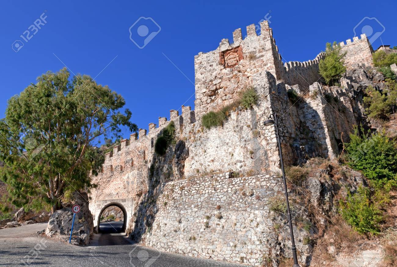 Turkey  Ruins of Ottoman fortress in Alanya Stock Photo - 14123446