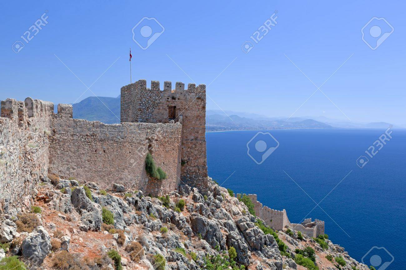 Turkey  Ruins of Ottoman fortress in Alanya Stock Photo - 14123422