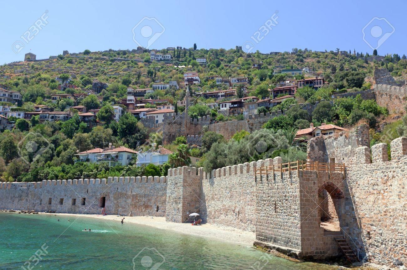 Turkey  Ruins of Ottoman fortress in Alanya Stock Photo - 14123428