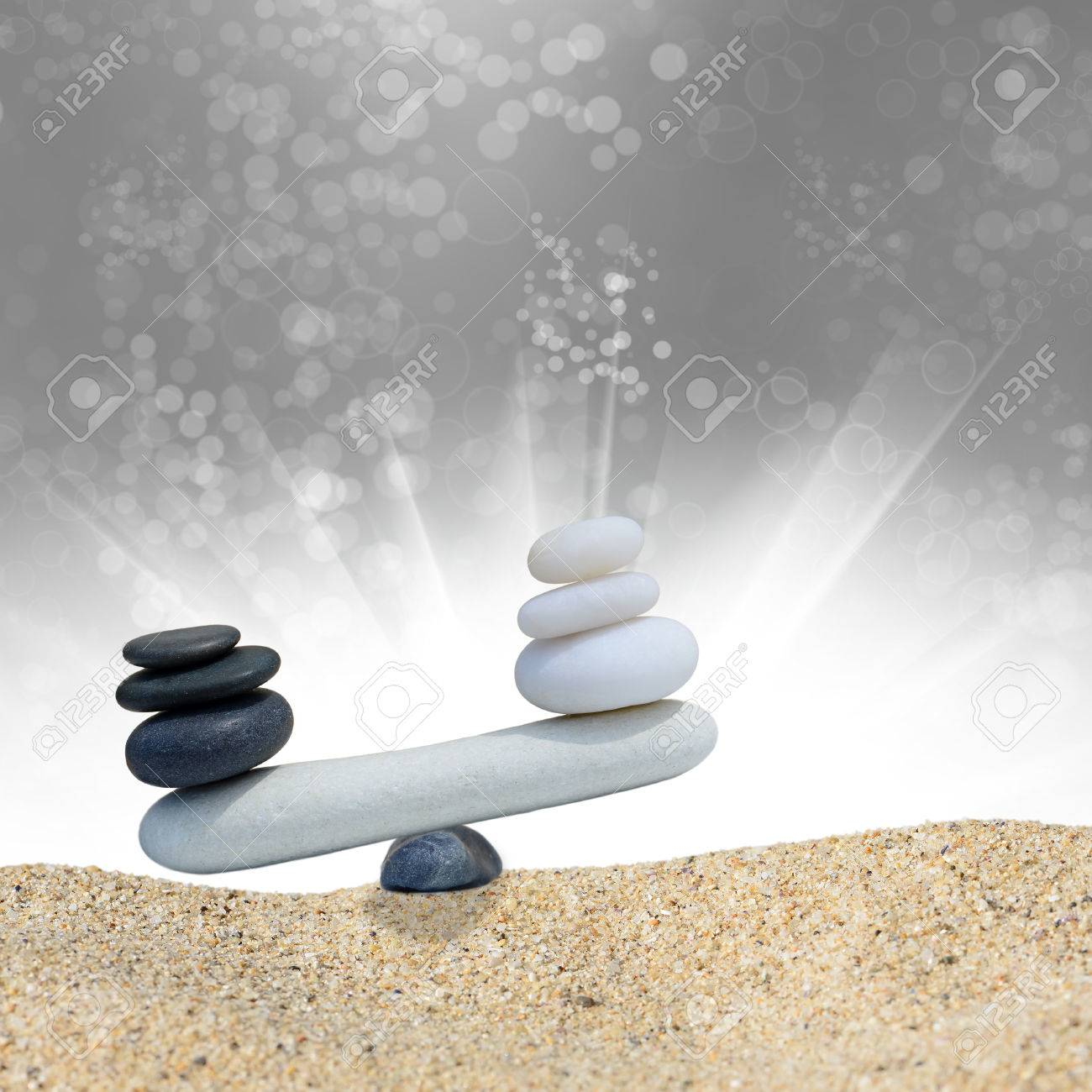 Zen Stones Balance Concept The Balance Between Black And White