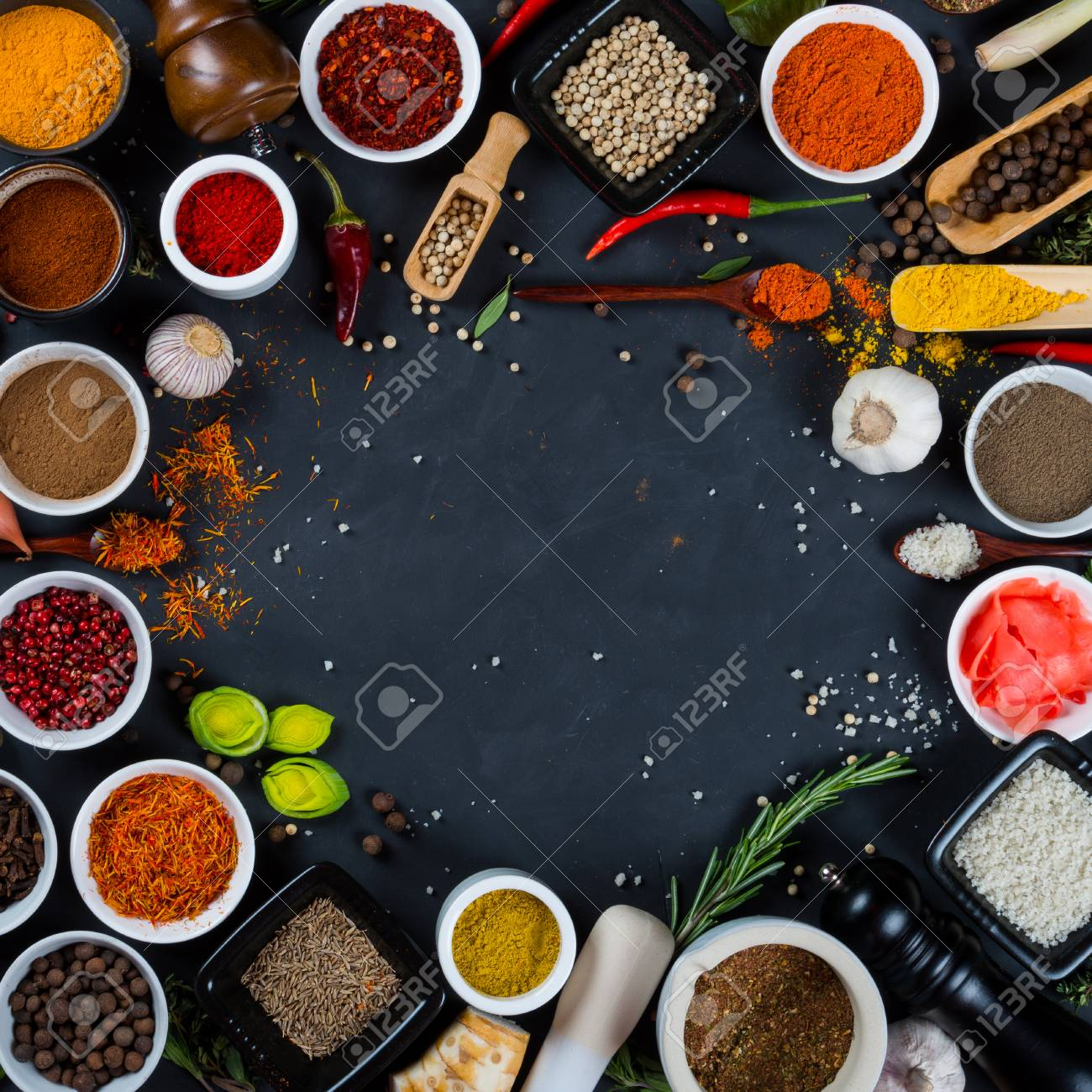 Asian spices and herbs