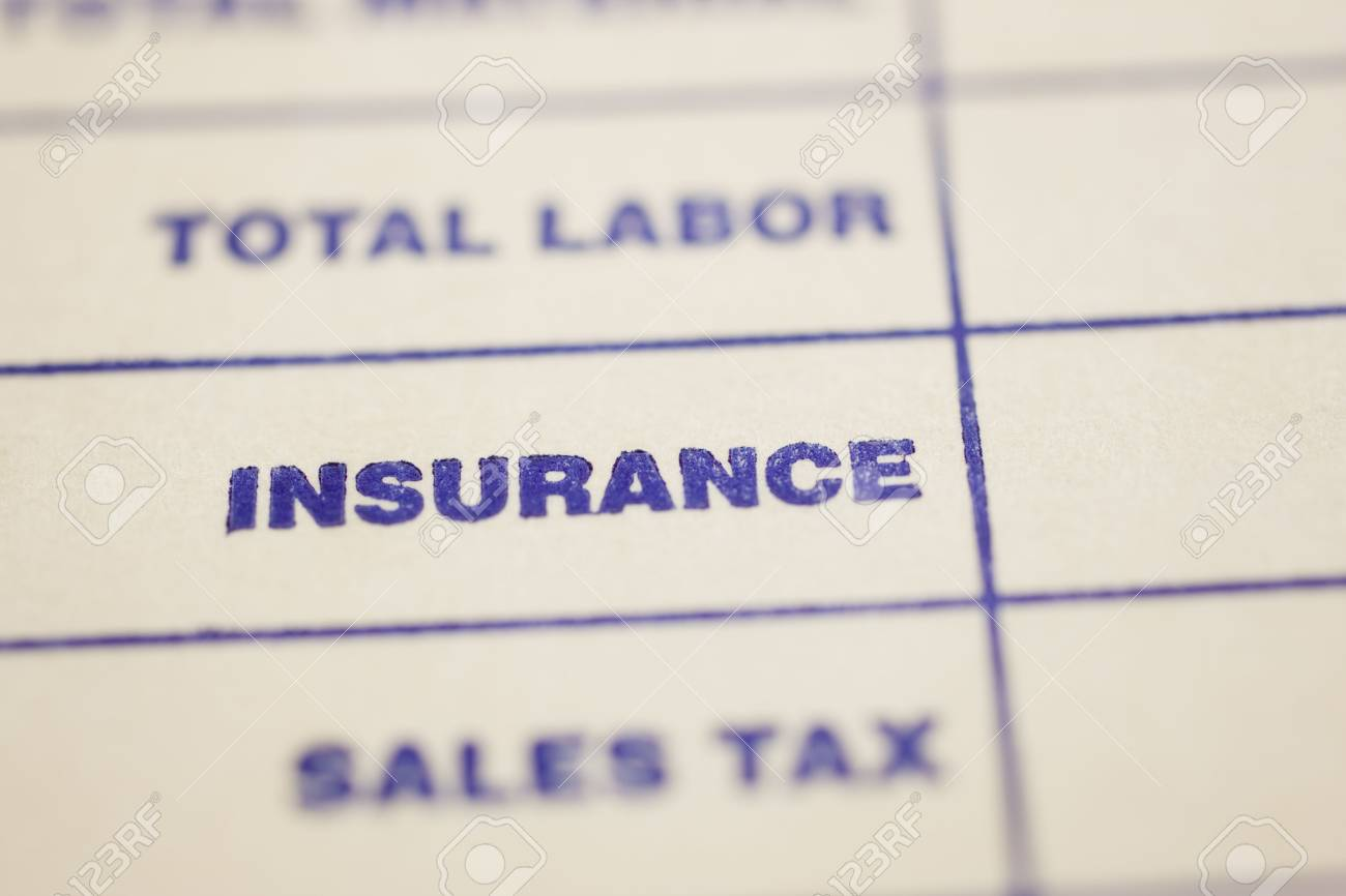 Macro shot of general invoice Stock Photo - 4848615