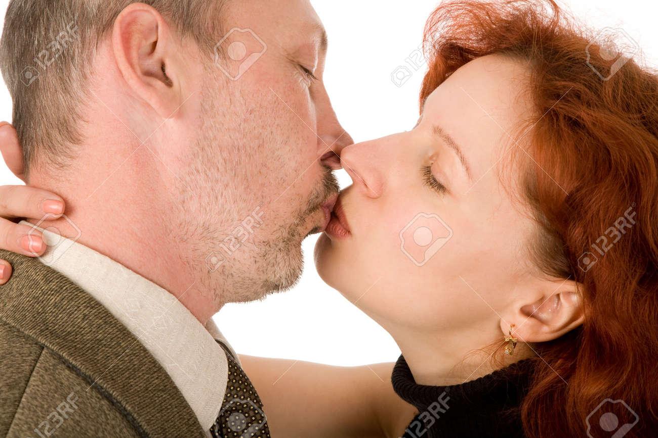 Mann und frau kuss