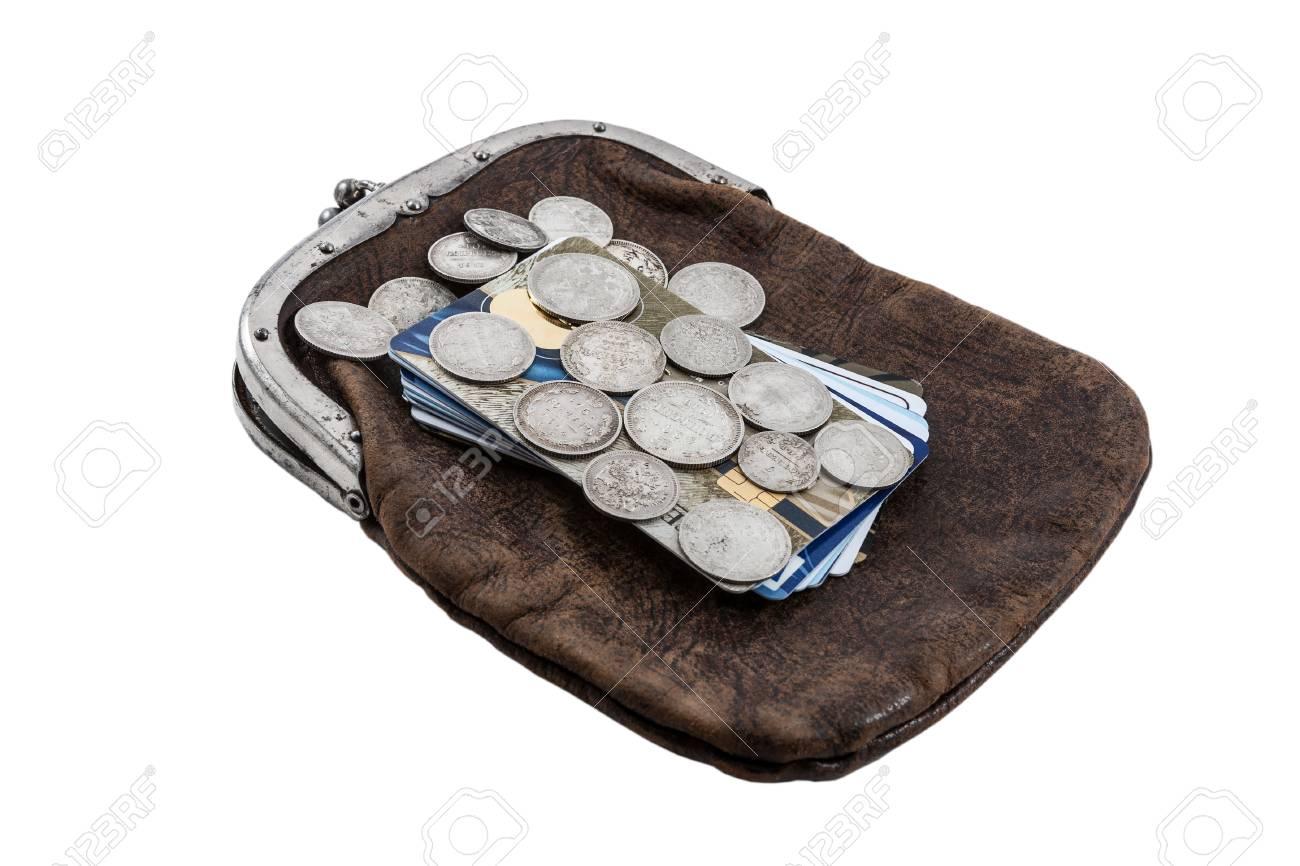 Silber Russische Münzen Des 19 Jahrhunderts Gegen Kreditkarten Und