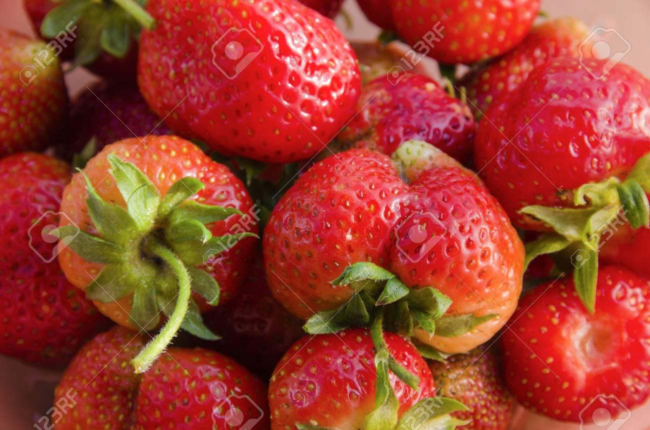 それは夏の園芸作物イチゴ果実の...