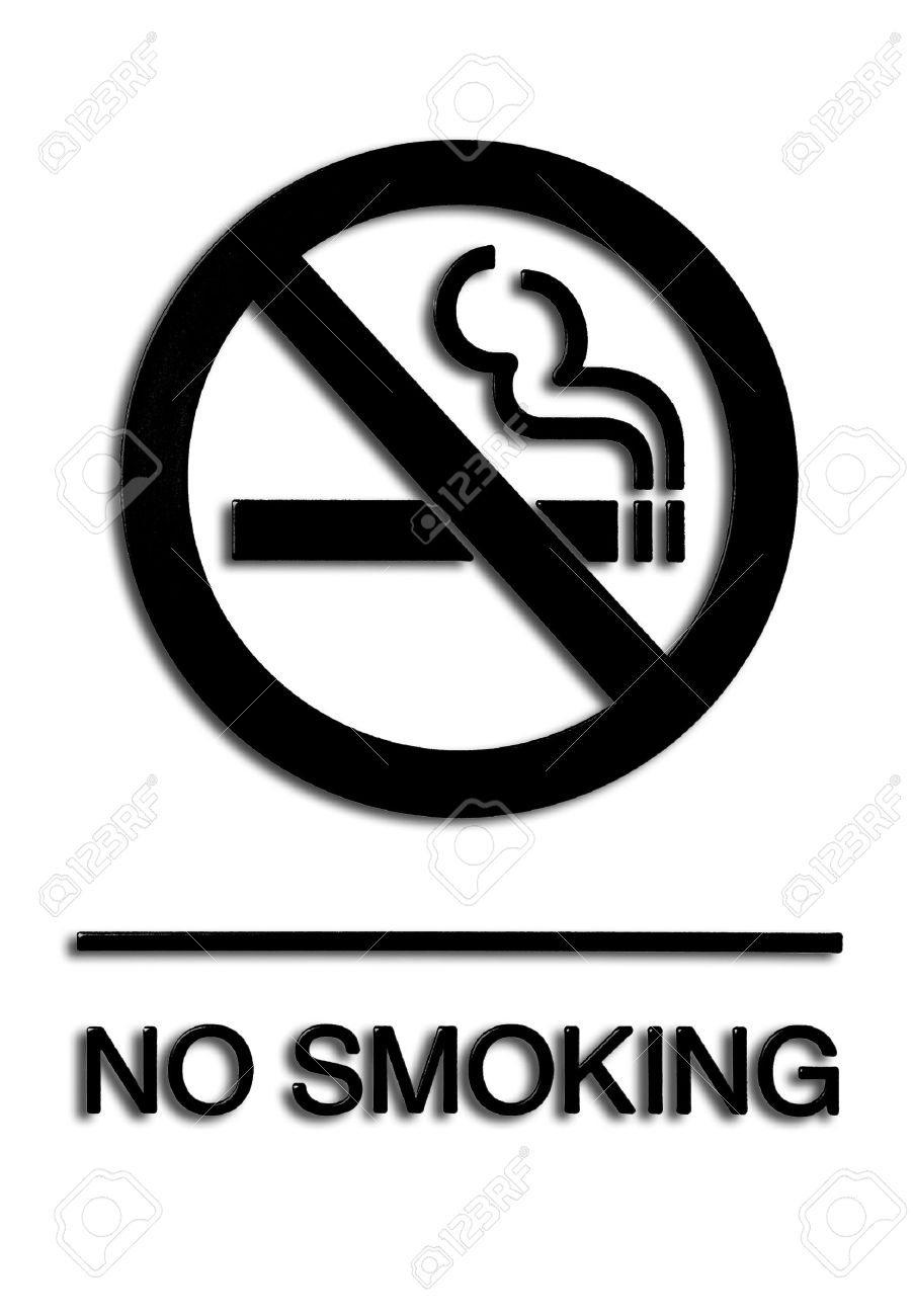 no smoking sign black and white