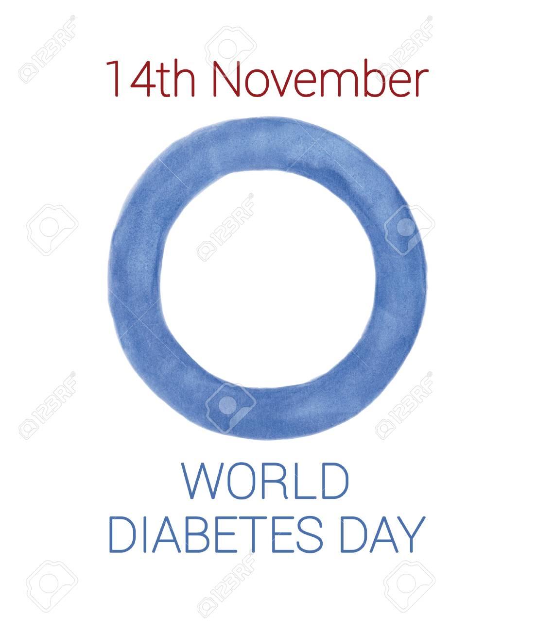 aplicación del círculo azul del día mundial de la diabetes