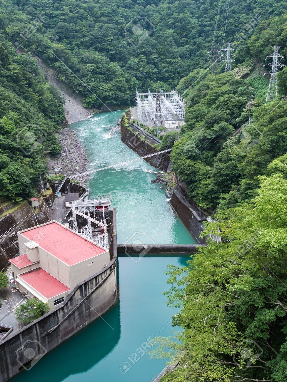 Hydroelectric Power Plant Japan Worksheet And Wiring Diagram Mini Hydro Landscape Of Iawa River In Shizuoka Rh 123rf Com