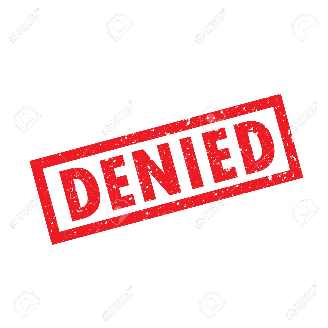 Denied >> Vector Denied Stamp Icon Mark With Noise Illustration