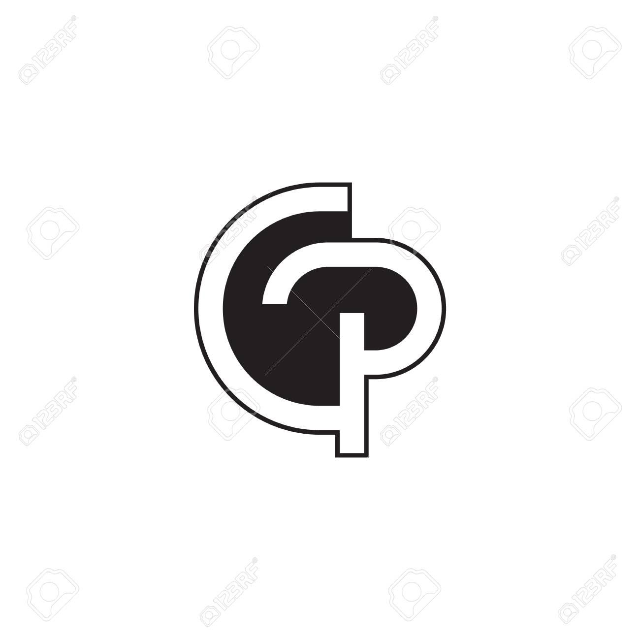 Modèle De Conception Initiale Lettre Gp Concept De Symbole Monochrome Moderne