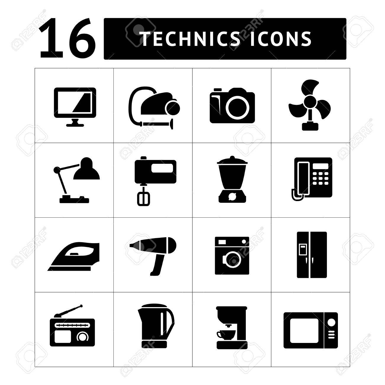 technics : Set icons of home