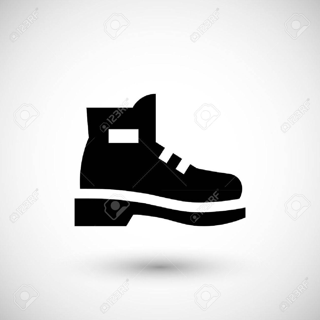 Industrial boot icon isolated on grey. Vector illustration - 51683242