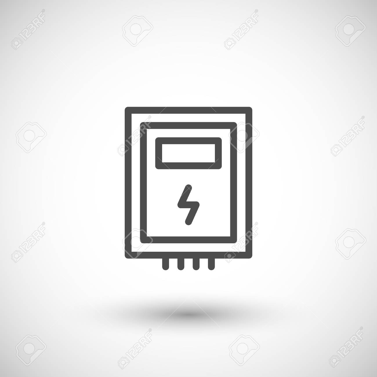 electric box line icon royalty free cliparts vectors and stock rh 123rf com fuse box concert fuse box concert