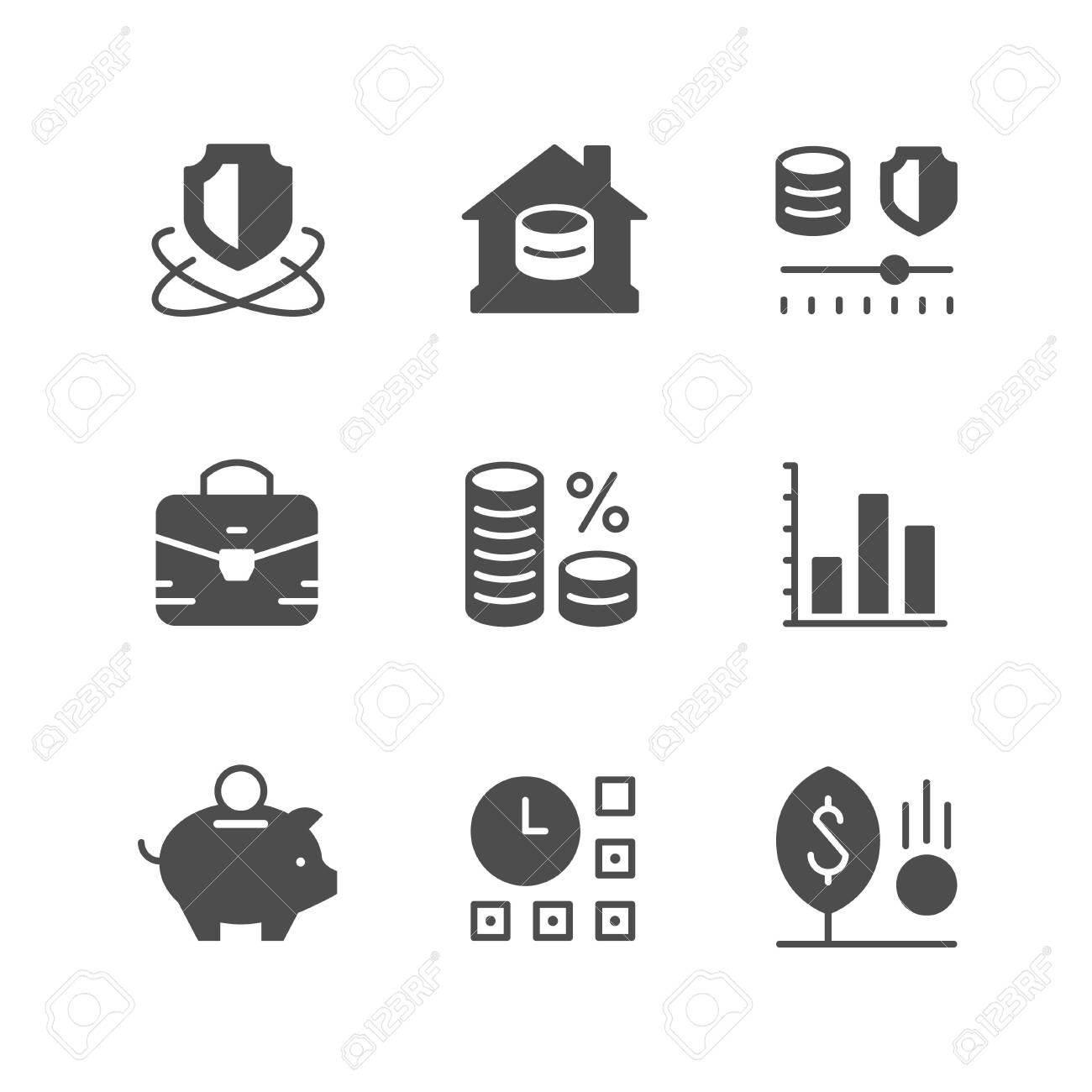 Set icons of investment - 122520788