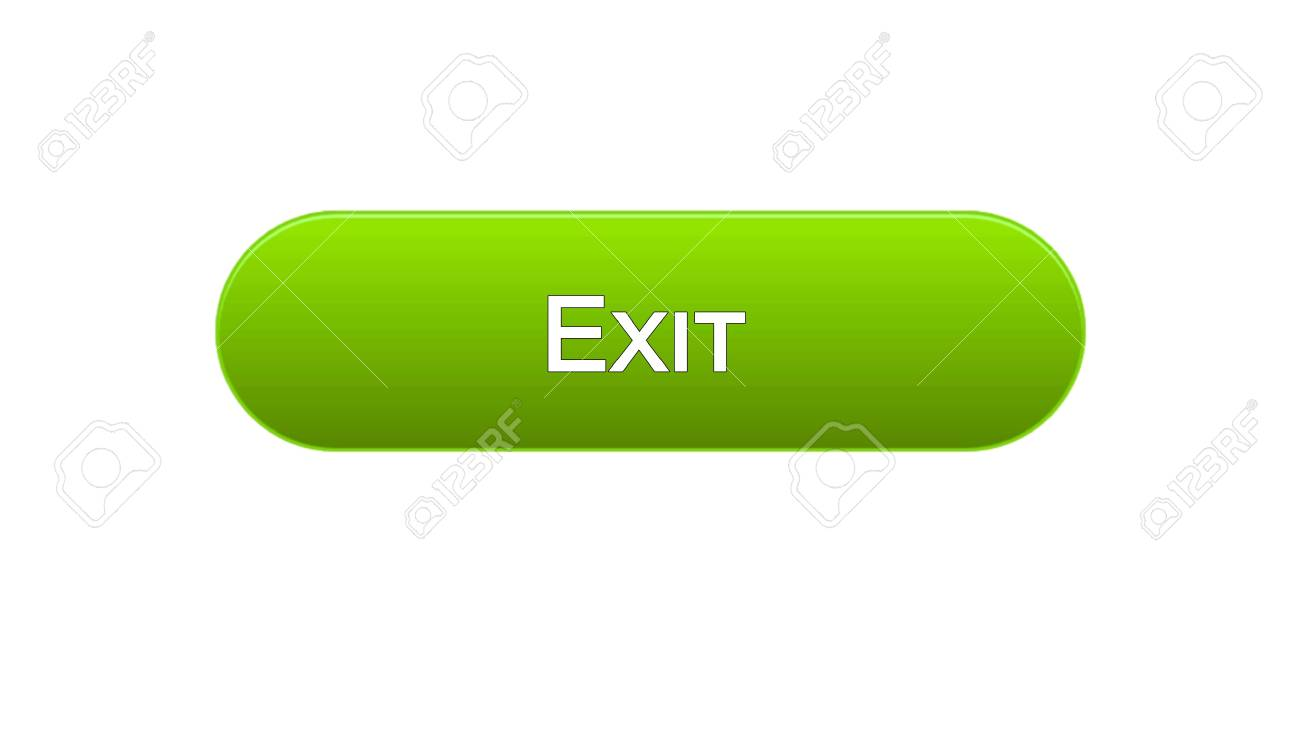 Exit web interface button green color, application log-out, internet