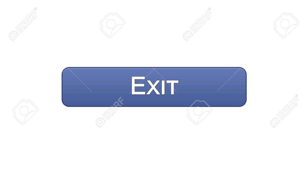 Exit web interface button violet color, application log-out,