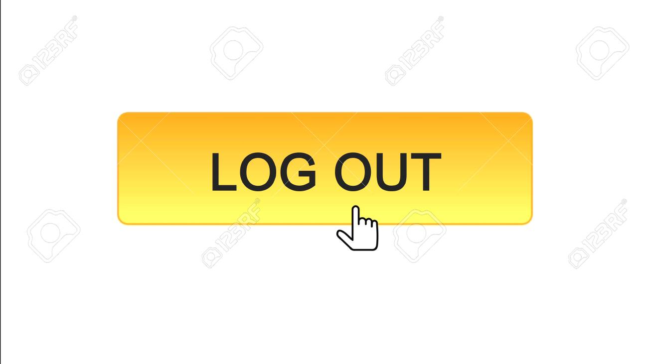 Log out web interface button clicked with mouse cursor orange
