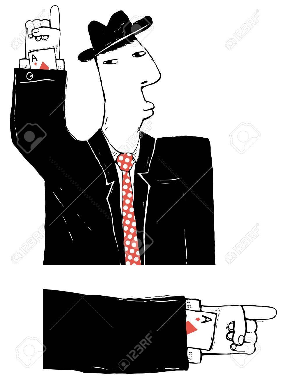 cardsharper cartoon illustration Stock Vector - 16463788