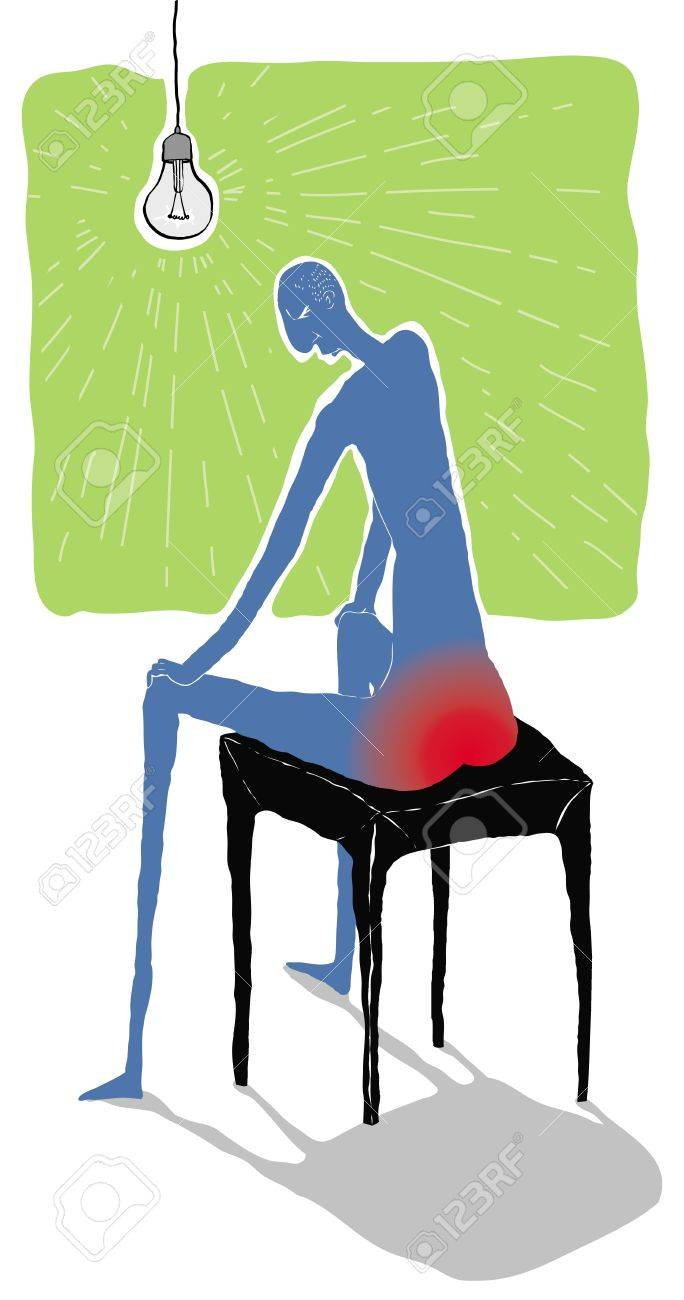 Pile painful vector illustration Stock Photo - 16463765