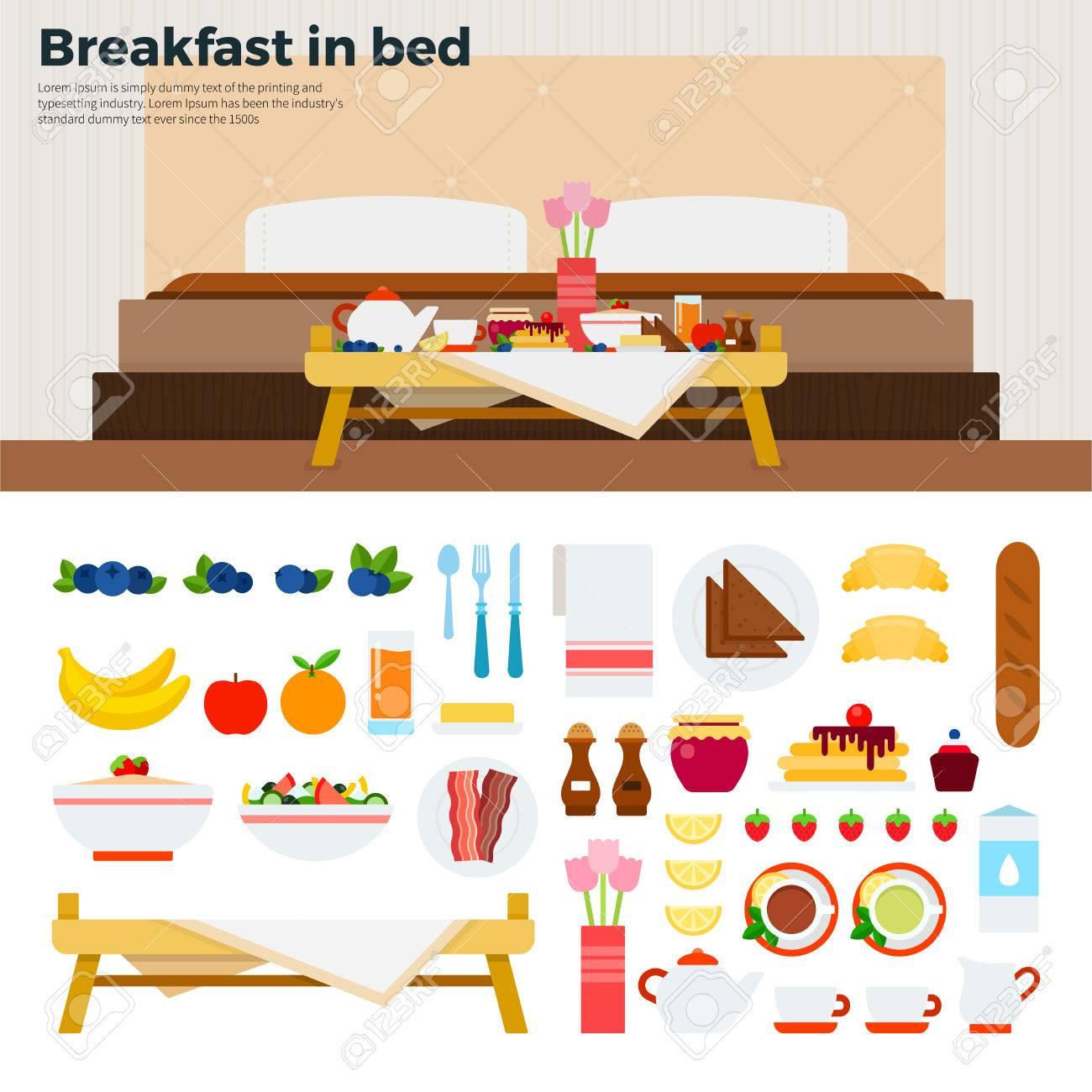 Fruhstuck Im Bett Flach Abbildungen Tabelle Mit Fruhstuck Im