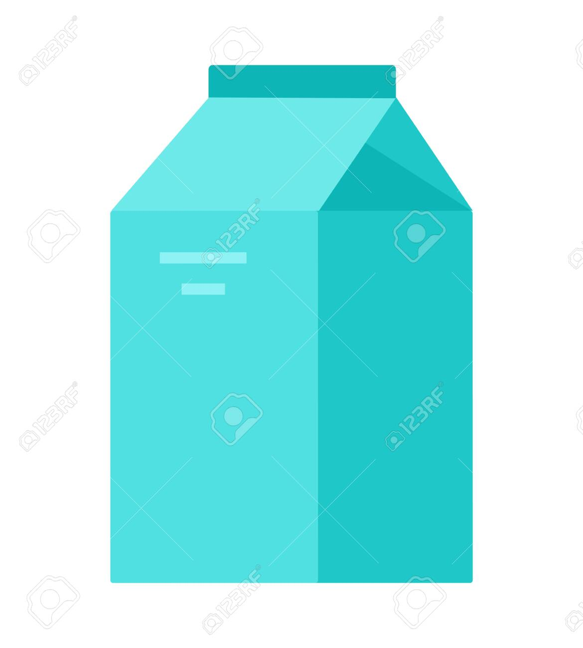 Vegetable milk in paper packaging vector flat material design isolated on white - 137003565