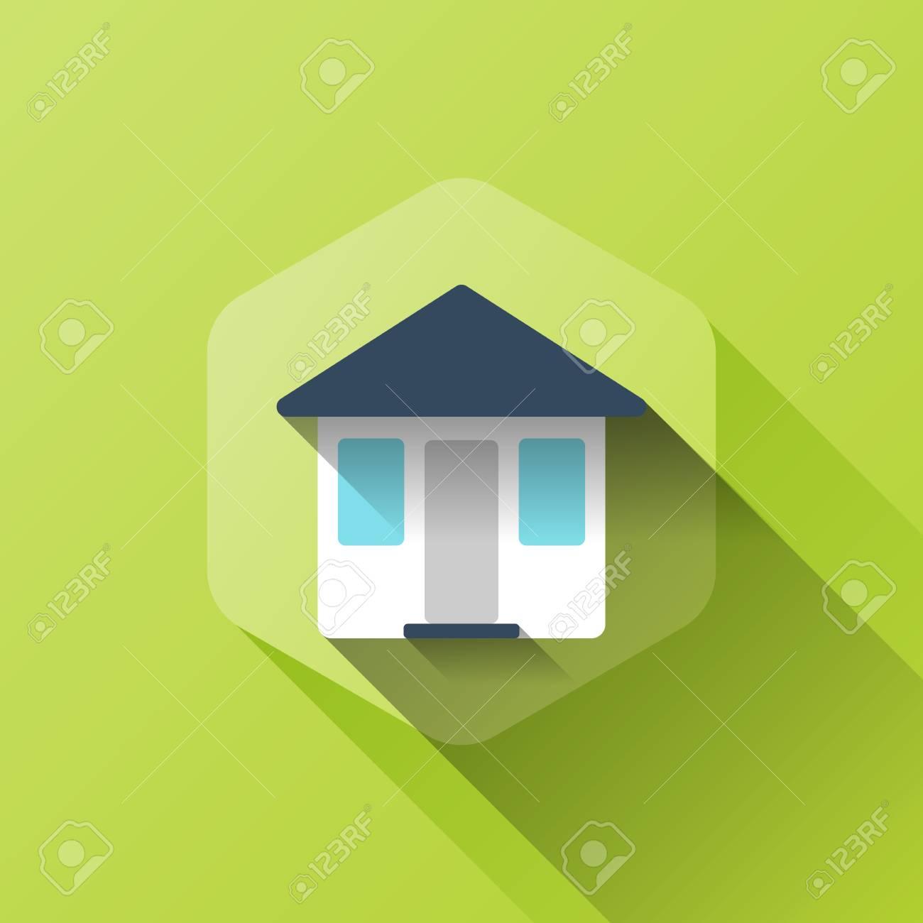 フラット スタイルの家のアイコンのシンプルなイラスト の写真素材画像