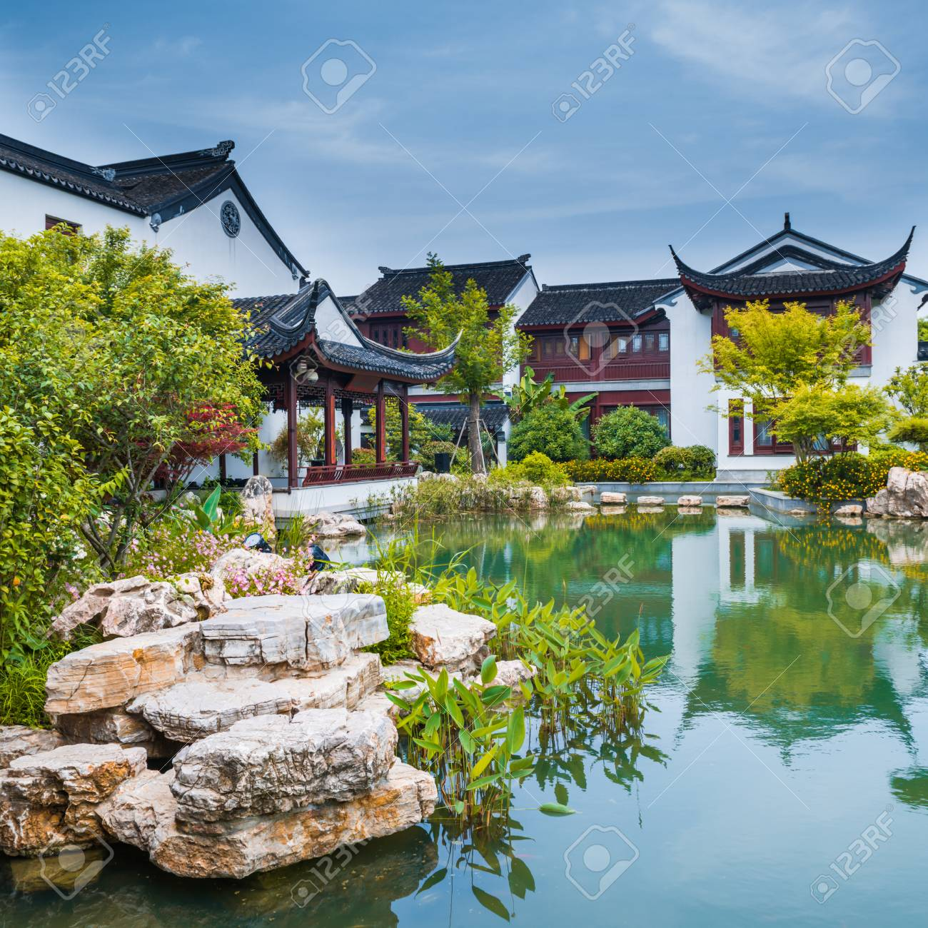 Ancient Chinese Garden Stock Photo Picture And Royalty Free Image